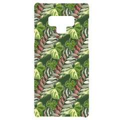 Leaves Seamless Pattern Design Samsung Note 9 Black Uv Print Case