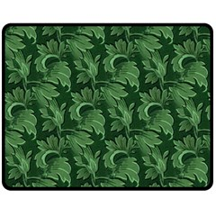 Leaf Flora Nature Desktop Herbal Fleece Blanket (medium)