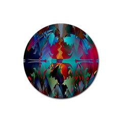 Background Sci Fi Fantasy Colorful Rubber Coaster (round)