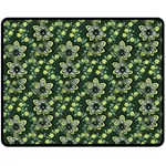 Abstract Pattern Flower Leaf Fleece Blanket (Medium)  60 x50  Blanket Front