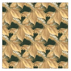 Scrapbook Leaves Decorative Large Satin Scarf (square)