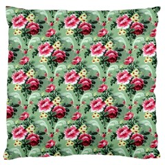 Floral Pattern Ornate Decorative Large Cushion Case (one Side)