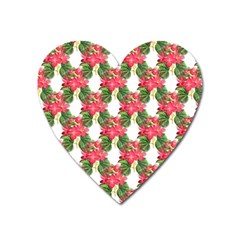Floral Seamless Decorative Spring Heart Magnet by Pakrebo