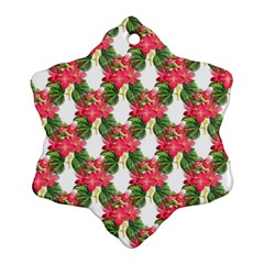 Floral Seamless Decorative Spring Ornament (snowflake)