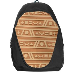 Background Non Seamless Pattern Brown Backpack Bag by Pakrebo