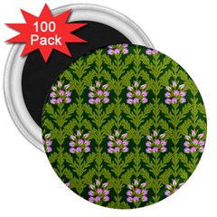 Pattern Nature Texture Heather 3  Magnets (100 Pack) by Pakrebo