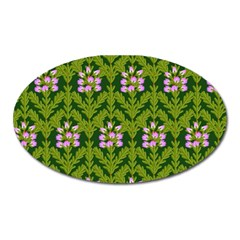 Pattern Nature Texture Heather Oval Magnet