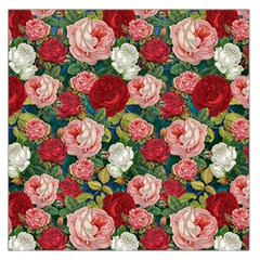 Roses Repeat Floral Bouquet Large Satin Scarf (square)