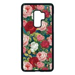 Roses Repeat Floral Bouquet Samsung Galaxy S9 Plus Seamless Case(Black) Front