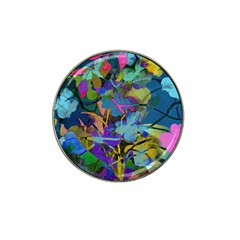 Flowers Abstract Branches Hat Clip Ball Marker