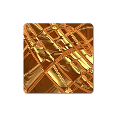 Gold Background Square Magnet