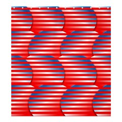 Patriotic Red White Blue Stripes Shower Curtain 66  X 72  (large)