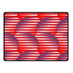 Patriotic Red White Blue Stripes Fleece Blanket (small)
