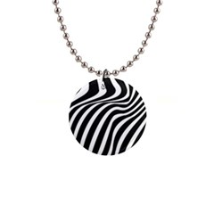 Wave Line Curve 1  Button Necklace