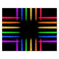 Neon Light Abstract Pattern Rectangular Jigsaw Puzzl by Mariart