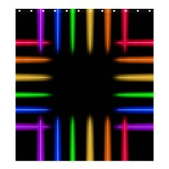 Neon Light Abstract Pattern Shower Curtain 66  X 72  (large)