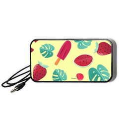 Watermelon Leaves Strawberry Portable Speaker