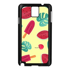 Watermelon Leaves Strawberry Samsung Galaxy Note 3 N9005 Case (black)