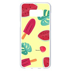Watermelon Leaves Strawberry Samsung Galaxy S8 Plus White Seamless Case