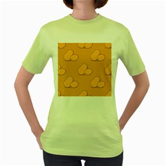 Fresh Potato Root Women s Green T Shirt