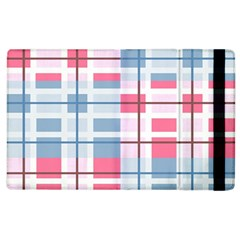Fabric Textile Plaid Apple Ipad 2 Flip Case by HermanTelo
