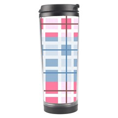 Fabric Textile Plaid Travel Tumbler