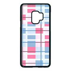 Fabric Textile Plaid Samsung Galaxy S9 Seamless Case(black) by HermanTelo