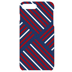 Geometric Background Stripes Iphone 7/8 Plus Black Uv Print Case