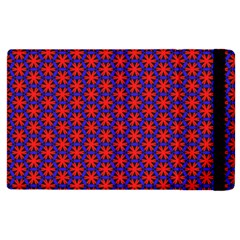 Blue Pattern Texture Apple Ipad 2 Flip Case by HermanTelo
