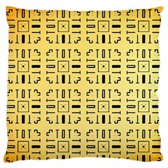 Background Yellow Large Flano Cushion Case (two Sides)