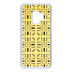 Background Yellow Samsung Galaxy S9 Seamless Case(white) by HermanTelo