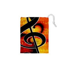 Clef Music Lines Notenblatt Drawstring Pouch (xs) by HermanTelo