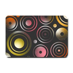 Circles Yellow Space Small Doormat  by HermanTelo