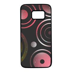 Circles Yellow Space Samsung Galaxy S7 Black Seamless Case by HermanTelo
