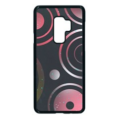 Circles Yellow Space Samsung Galaxy S9 Plus Seamless Case(black)