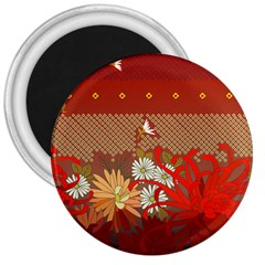 Abstract Flower 3  Magnets