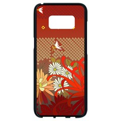 Abstract Flower Samsung Galaxy S8 Black Seamless Case