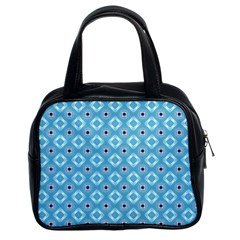 Blue Pattern Classic Handbag (two Sides) by HermanTelo