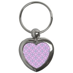 Circumference Point Pink Key Chain (heart) by HermanTelo