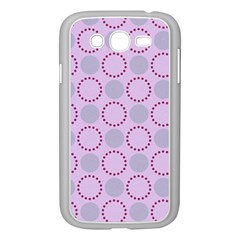 Circumference Point Pink Samsung Galaxy Grand Duos I9082 Case (white)