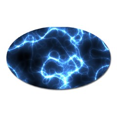 Electricity Blue Brightness Oval Magnet by HermanTelo