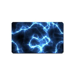 Electricity Blue Brightness Magnet (name Card) by HermanTelo