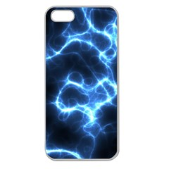 Electricity Blue Brightness Apple Seamless Iphone 5 Case (clear) by HermanTelo