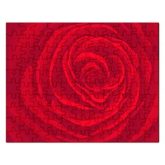 Roses Red Love Rectangular Jigsaw Puzzl by HermanTelo