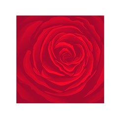 Roses Red Love Small Satin Scarf (square)