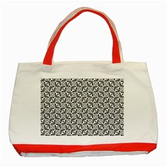 Ornamental Checkerboard Classic Tote Bag (red) by HermanTelo