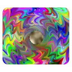 Rainbow Plasma Neon Double Sided Flano Blanket (small)  by HermanTelo