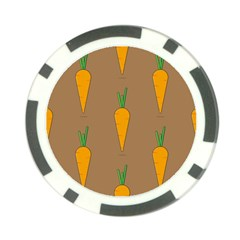 Healthy Fresh Carrot Poker Chip Card Guard (10 Pack) by HermanTelo