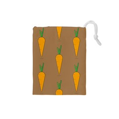 Healthy Fresh Carrot Drawstring Pouch (small)