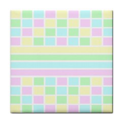Geometric Pastel Tile Coasters by Bajindul